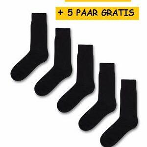 10 paar zwarte sokken