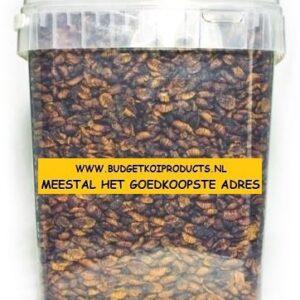 Zijderupsen 10mm 10 liter - Koivoer